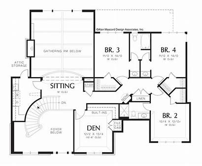 Plan Floor Stairs Plans Storey Staircase Upper
