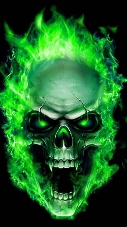 Flames Zedge Skull Neon