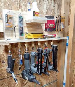 i put the finishing touches on my french cleat air tool With need place tool applicable garage storage ideas