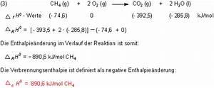 Enthalpie Berechnen : prof blumes medienangebot energie und chemie ~ Themetempest.com Abrechnung