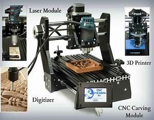 CNC Piranha Fx All-in-One System Offers A 3D Printer, CNC