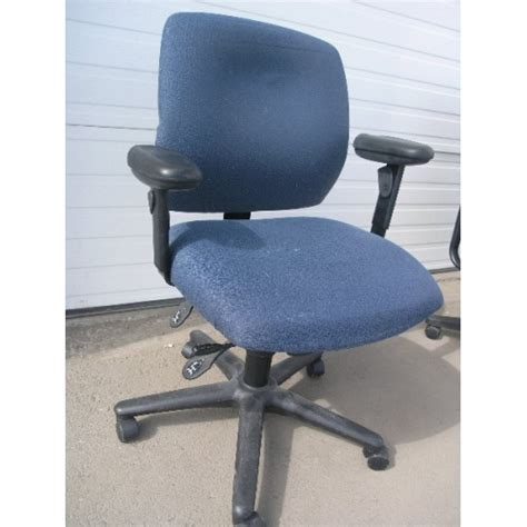 rolling blue office cloth chair with arms allsold ca