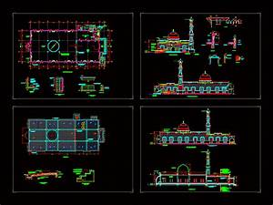 Mosque, Dwg, Section, For, Autocad, U2022, Designs, Cad