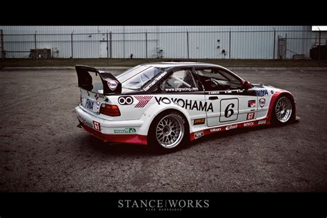 The #6 E36 Ptg Yokohama/fina Race Car