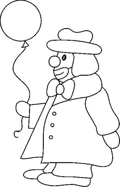 Kleurplaat Clowsgezicht by Clowns Coloring Pages