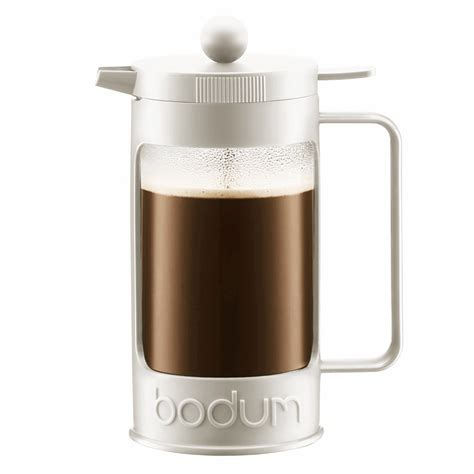 bodum bean off white french press coffee maker 8 cup