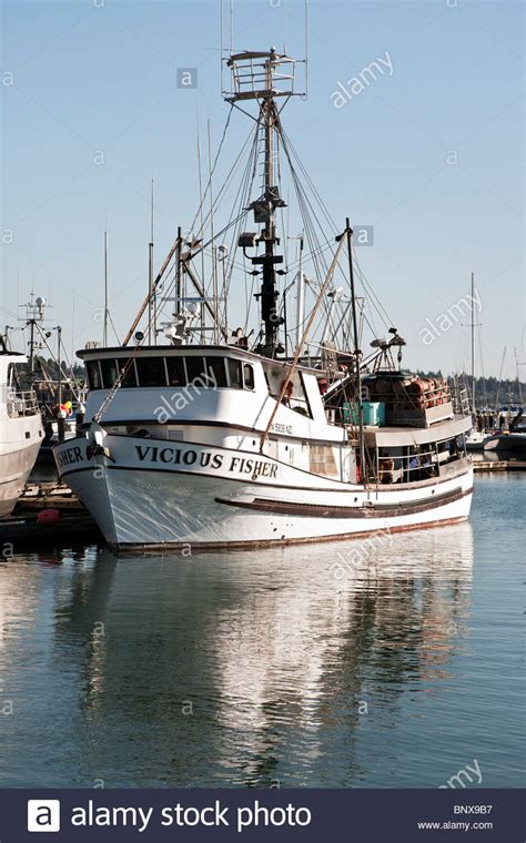 Crab Fishing Boat Images by Commercial Crab Fishing Boat Vicious Fisher Moored At
