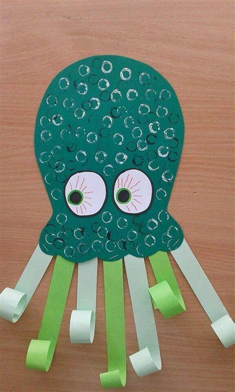 cupcake liner octopus kids craft preschool crafts