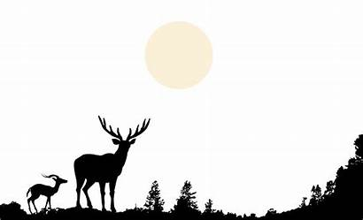 Clip Forest Nature Silhouette Deer Clipart Wildlife