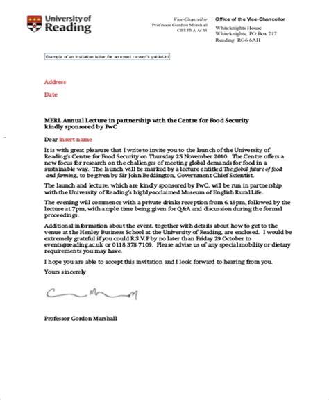 formal invitation letter letters  sample letters