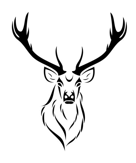 deer skull drawing clipart panda  clipart images