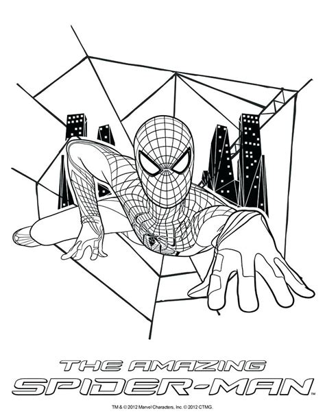 The Amazing Spider Coloring Pages Amazing Spider The Amazing Spider 2 Coloring Pages At Getcolorings