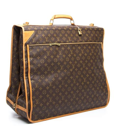 louis vuitton preowned brown monogram canvas garment bag