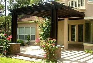 Fantastic Free Pergola Designs Attached To House Garden