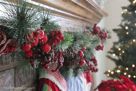 christmas mantle garlands our mantel how to nest for less