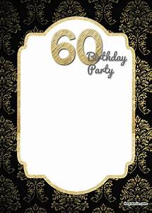 free printable 60th birthday invitation templates drevio With 60th birthday invites free template