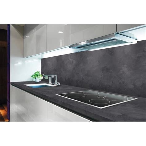 plan de travail cuisine ardoise polyrey plan de travail ch droit ardoise oxydée l 235 x