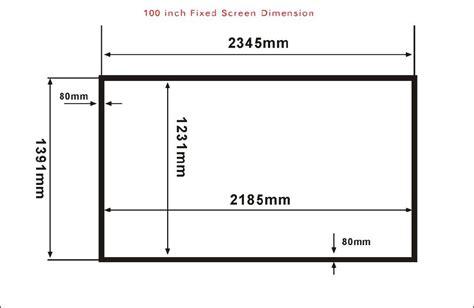 projection screen cinema size    brightness