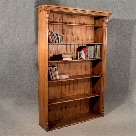 """Antique Oak Large 6' 6"""" Tall Bookcase Display  Antiques Atlas"""