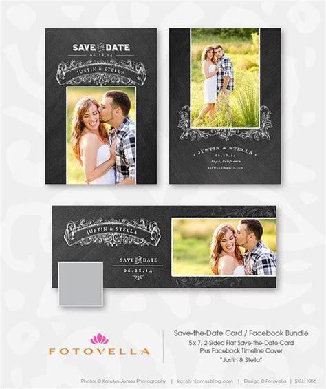 save  date photoshop template bundle facebook cover