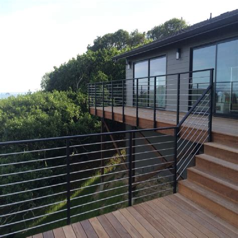 black deck cable railing outdoor