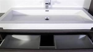 meuble salle de bain design grande vasque sicily With salle de bain design avec grande vasque à encastrer