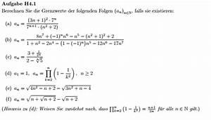 Grenzwert Berechnen Beispiele : grenzwert grenzwerte der folgen bestimmen a n 3n 1 2 7 n 7 n 1 n 2 2 mathelounge ~ Themetempest.com Abrechnung
