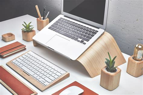 laptop holder for desk grovemade unveils stunning new wooden laptop stand