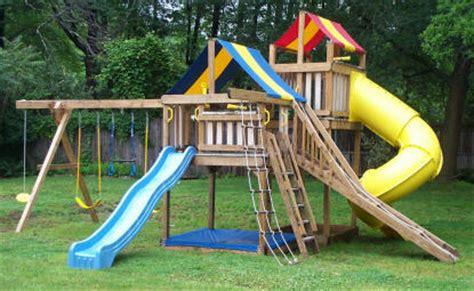 swing set  jungle fort tower backyard playground
