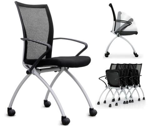 chaise de bureau pliable chaise empilable austria sur roulettes assise rabattable