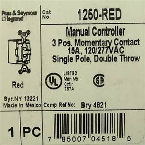 Shop Pass  U0026 Seymour Red Manual Motor Controller Switch