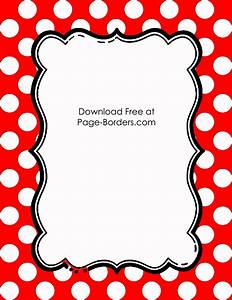 Free Polka Dot Border Templates in 16 Colors
