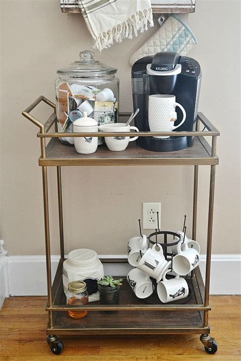 diy coffee bar   carts  wishing  warm