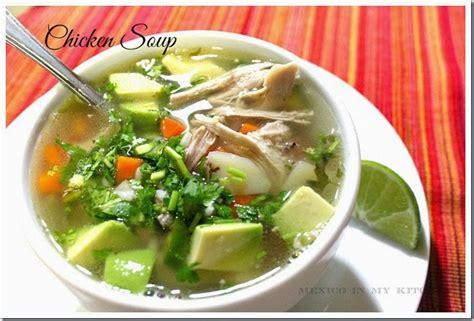 mexican soup names mexican chicken soup caldo de pollo mexican food recipes