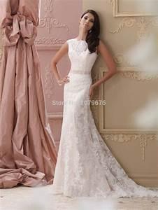high quality elegant wedding dresses vintage lace beaded With vintage sheath wedding dresses