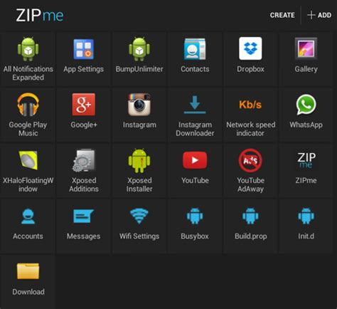 android zip create flashable zip of any file on android with zipme