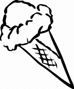 Best Ice Cream Clipart Black And White #9900 - Clipartion.com