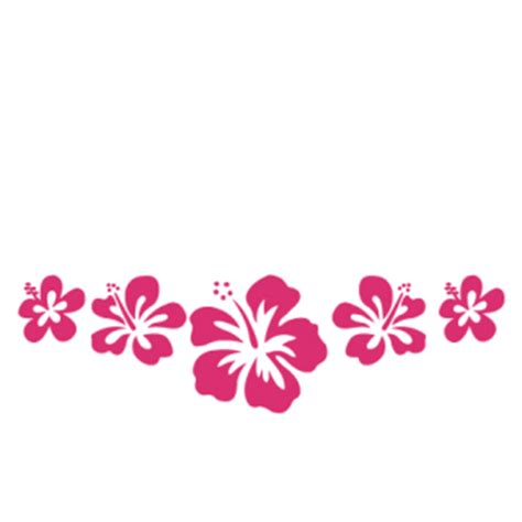 hibiscus flowers custom  wall quotes decal