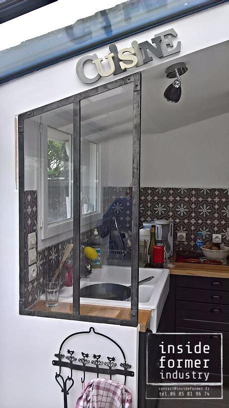 verriere dans une cuisine objets décoration style industriel sur mesure nantes