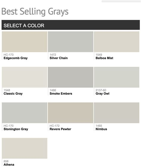 big ben athena best selling benjamin paint colors