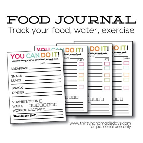 journal cuisine updated printable food journal food journal journal and