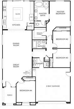 rectangle house plan   bedrooms  hallway  maximize space dream home