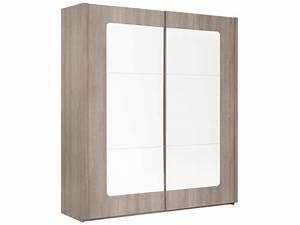 Porte Coulissante Miroir : armoire 2 portes coulissantes avec miroir quadra ~ Carolinahurricanesstore.com Idées de Décoration