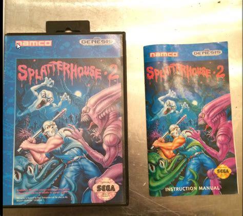 Fake Splatterhouse 2 Cover Art Gamecollecting