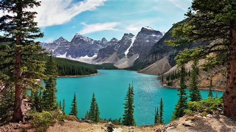 canada lake mountain wallpapers hd desktop  mobile