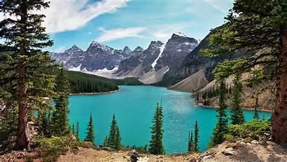 Lake Mountain Canada Wallpapers Background Desktop Landscape