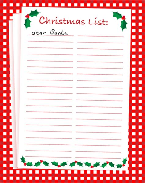 blank christmas list new calendar template site