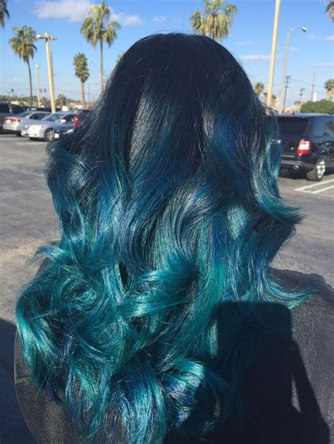 Best 25 Teal Ombre Ideas On Pinterest Teal Ombre Hair