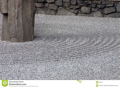 gravel bed  zen garden stock photography image