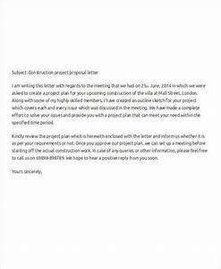 Cover Letter For Construction Bid Proposal Construction Project Proposal Letter